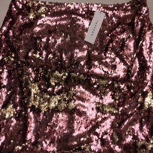 NWT Topshop Pink Sequin Drape Mini Skirt